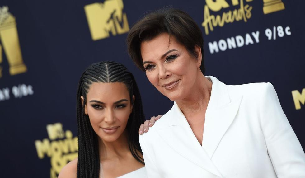 Kim Kardashian se mostró feliz por tener una madre como Kris. (AFP)