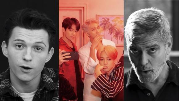 """W Magazine reunió a distintas celebridades de la industria del entretenimiento para que interpreten la letra de """"Dynamite"""" de BTS. (Foto: Captura W/@bts.bighitofficial)"""