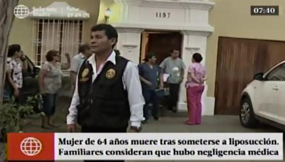 Mujer falleció tras someterse a liposucción en Miraflores