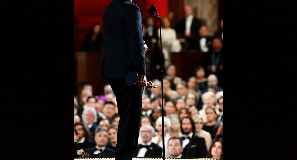 """Joaquin Phoenix, agradeciendo su Oscar a Mejor actor por """"Joker""""."""