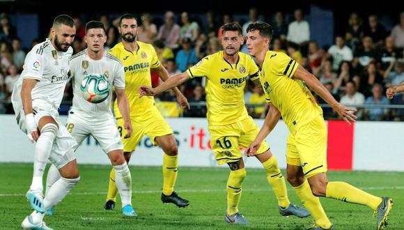 Real Madrid visita a Villarreal en el estadio La Cerámica, ex Madrigal, en partido por la tercera fecha del fútbol español. (Foto: EFE)
