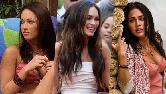 """A la izquierda, Megan Fox en la serie """"Two and a Half Men""""; al centro; rodeada de sus fans durante la premier de """"Teenage Mutant Ninja Turtles""""; a la derecha, en """"Transformers"""". Fotos: CBS/ Robyn Beck para AFP/ UIP."""