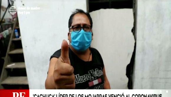 "Cachuca, líder de ""Los Mojarras"", revela que venció al COVID-19 (Foto: captura video)"