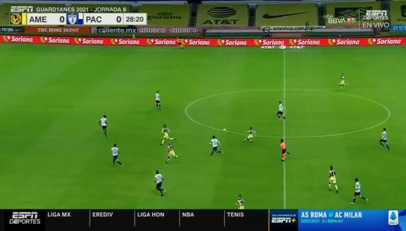 ¡Le pegó desde su campo! Richard Sánchez y el golazo para el América en la Liga MX | VIDEO