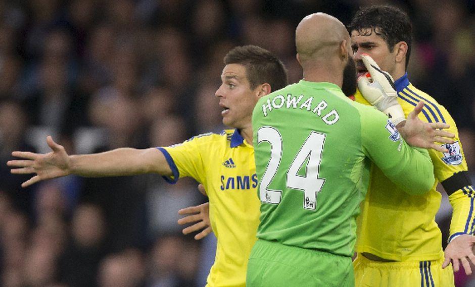 La reacción de Diego Costa que provocó la molestia de Howard