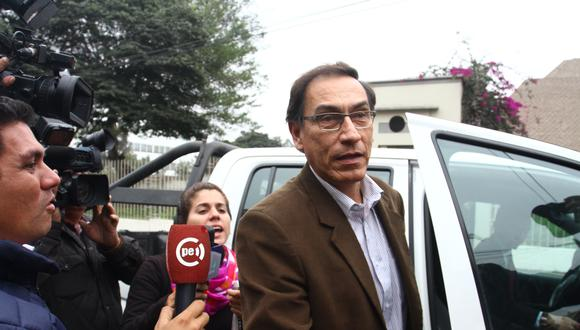 Martín Vizcarra cuestionó la inhabilitación en su contra por el Congreso. (Foto: Leandro Britto / El Comercio)