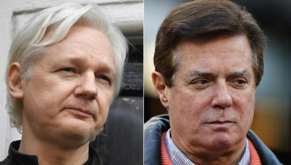 Paul Manafort mantuvo reuniones secretas con Julian Assange, según The Guardian. (AFP)