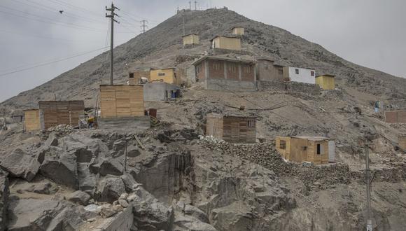 Situación en el cerro San Cristóbal donde se advierte respecto a invasiones. (Foto: Anthony Niño de Guzmán/GEC)