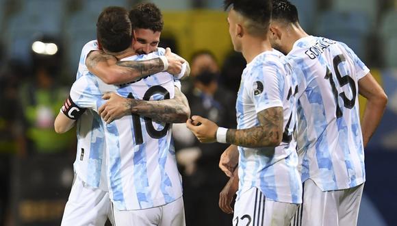Argentina se impuso 3-0 a Ecuador con goles de De Paul, Lautaro Martínez y Lionel Messi (Foto: AFP)
