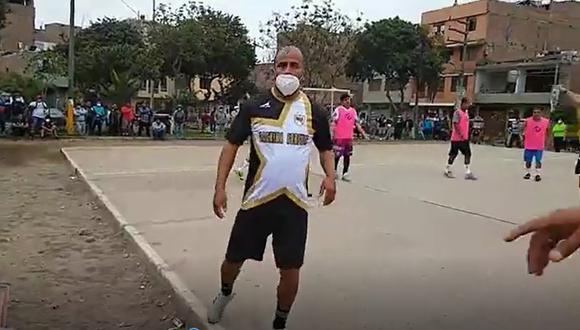 El Agustino: en plena pandemia por el COVID-19, se realizó un torneo de fulbito que fue interrumpido por la policía.