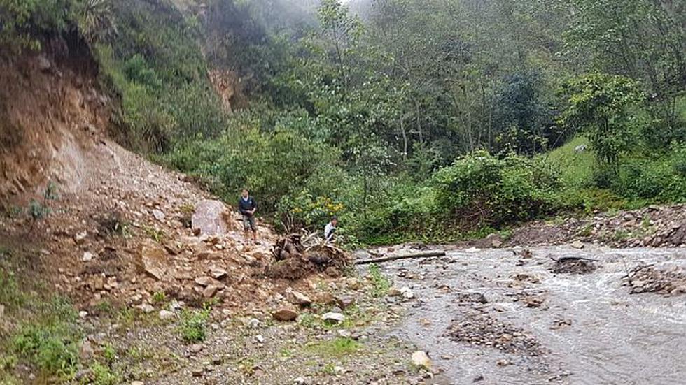 Cajamarca: nuevo derrumbe bloquea la vía Cochabamba - Chota - 2