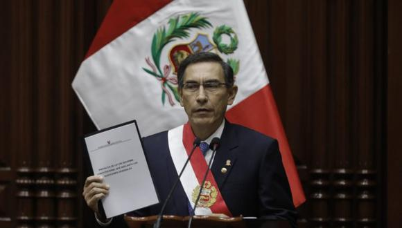 El 28 de julio, el presidente de la República Martín Vizcarra propuso una reforma constitucional para adelantar elecciones generales al 2020 (Foto: GEC)