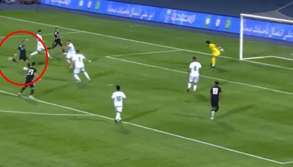 Argentina vs. Iraq: Roberto Pereyra anotó un golazo para el 2-0 de los 'albicelestes'. (Foto: captura de pantalla)