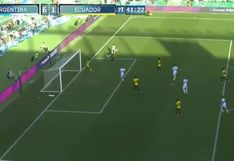 Argentina vs. Ecuador: Lucas Ocampos colocó el 6-1 y selló goleada en amistoso de fecha FIFA | VIDEO