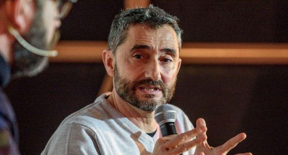 Ernesto Valverde, ex entrenador de Barcelona, evitó responder las preguntas acerca de su salida de Barcelona tras asistir a la Bilbao International Football Summit (Foto: Twitter)