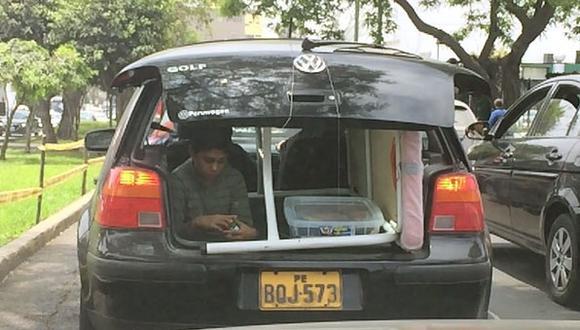 Vía WhatsApp: conductor expone a un niño a un accidente