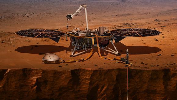 Sonda InSight registra la actividad sísima del cuarto planeta gracias al sismógrafo que lleva incorporado. (Ilustración: AP)