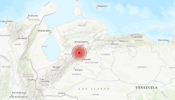 Un sismo de magnitud 5,2 se registró este domingo en Venezuela, a 11 kilómetros al noreste de Biscucuy, en el estado llanero de Portuguesa, indicó la Fundación Venezolana de Investigaciones Sismológicas (Funvisis). (USGS).