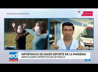 Especialista explica la importancia de hacer deporte en la pandemia