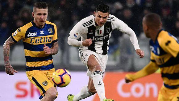 Juventus no pudo sostener su ventaja frente a Parma. A pesar del doblete de Cristiano Ronaldo, la visita equiparó las acciones con dos goles decisivos del africano Gervinho. (Foto: AP)