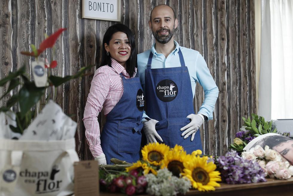 Ethel Hernández y Guillermo Arbulú, fundadores de Chapa esa Flor. (Foto: GEC/César Campos Medina)