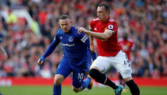 Manchester United se mide ante Everton esta mañana (10:00 am. por ESPN 2) en Old Trafford. El cotejo marcará el regreso de Wayne Rooney a la casa de su ex club. (Foto: AFP)