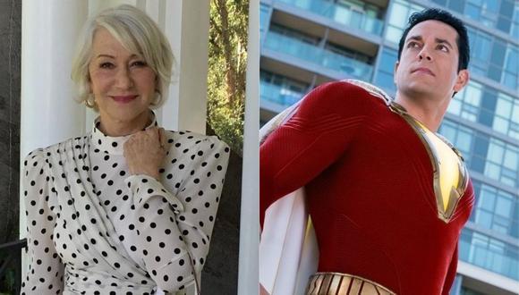"""Helen Mirren se une a la secuela de """"Shazam!"""" como la antagonista. (Foto: @helenmirren/@shazam)"""