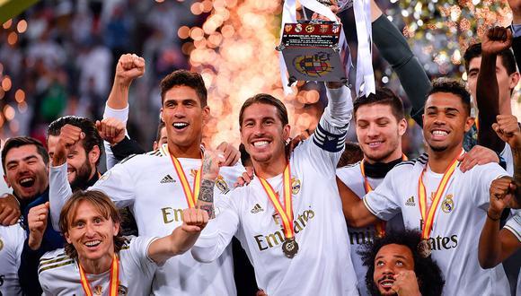 Real Madrid salió campeón de la Supercopa de España 2019/2020. (Foto: AFP)