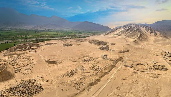 Vista panorámica de la ciudadela sagrada de Caral. (Foto: Zona Arqueológica Caral)