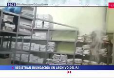 Registran inundación en el área de archivo del Poder Judicial
