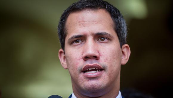 """Juan Guaidó advierte a Nicolás Maduro que un posible bloqueo naval de Estados Unidos """"no es un juego"""". (EFE)."""