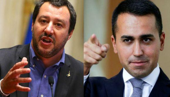 Luigi Di Maio y Matteo Salvini prefieren usar Facebook Live antes que métodos tradicionales para conectar con el público. (Reuters)