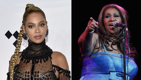 Beyoncé y Aretha Franklin. (Fotos: Agencias)