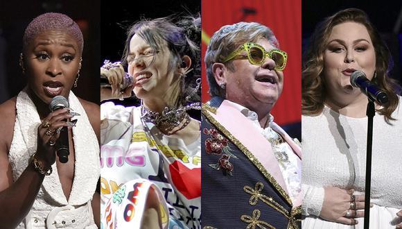 Cynthia Erivo, Billie Eilish, Elton John y Chrissy Metz son algunas de las figuras que cantarán en el Oscar 2020. (Foto: Agencias)
