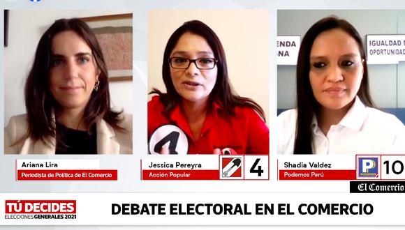 Las candidatas de AP y PP expusieron sus ideas en El Comercio.