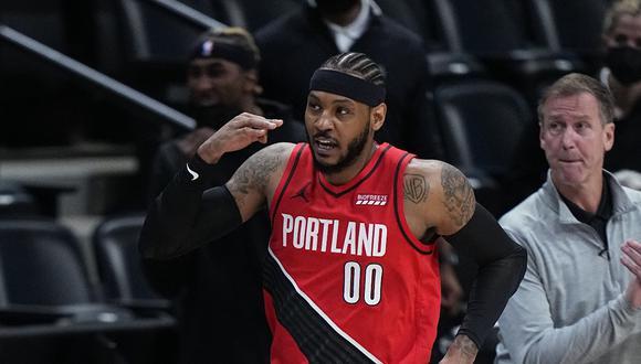 Carmelo Anthony aportó con 18 puntos, 3 rebotes y una asistencia en el triunfo de Portland frente a Denver Nuggets   Foto: AP