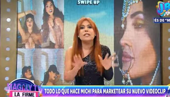 "Magaly Medina sobre censura de videoclip de Michelle Soifer: ""Solo quiere sembrar polémica"". (Foto: captura de video)"