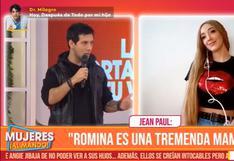 """Jean Paul Santa María se desvive en elogios a su esposa Romina Gachoy: """"Es una tremenda mamá""""   VIDEO"""
