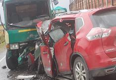 Carretera Central: choque entre camión y camioneta en la vía Pasco – La Oroya dejó un muerto y tres heridos