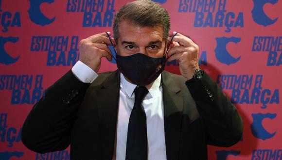 Joan Laporta es uno de los fuertes candidatos a ganar las elecciones presidenciales en Barcelona este 2021. FOTO: AFP