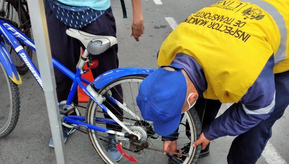 Además de la reparación, un inspector certificado en el campo de salud prestará primeros auxilios a los ciclistas o peatones que requieran asistencia por algún accidente. (Foto: Municipalidad de Lima)