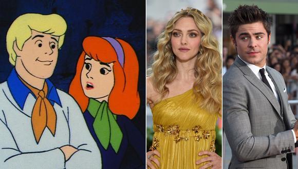 """Zac Efron y Amanda Seyfried serán parte de película de acción real de """"Scooby Doo"""". (Fotos: Agencias)"""