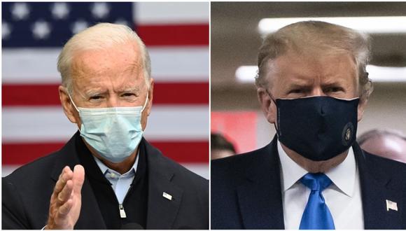 Tanto el Partido Republicano de Donald Trump (izquierda) como el Partido Demócrata de Joe Biden (derecha) tienen reglas sobre cómo llenar un eventual vacío en la nominación presidencial. (Foto: ALEX EDELMAN / JIM WATSON / AFP).