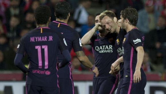 Barcelona: Rakitic marcó este gol en el triunfo ante Granada