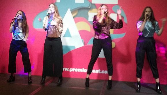 Integrantes del grupo musical Ventino cantaron durante el evento. (Foto: Sonia del Águila)