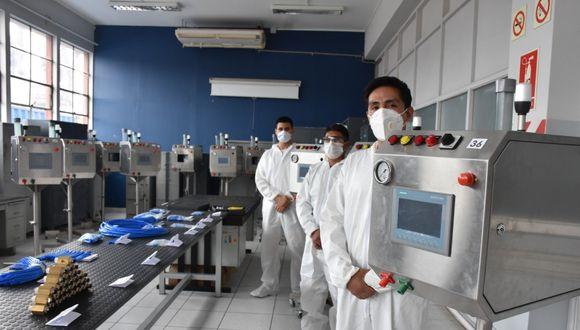 """El proyecto de Investigación científica se denominó Respirador Artificial Básico - REPIBAS o también llamado SAMAY, palabra en quechua que significa """"respirar"""". (Foto: Ministerio de Defensa)"""