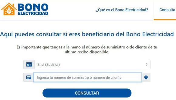 Osinergmin incorporó nuevos usuarios a la lista de beneficiarios del Bono de Electricidad de 160 soles.
