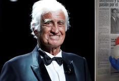 Jean-Paul Belmondo, el actor francés que adoraba el fútbol y llevaba a sus perritas a Roland Garros