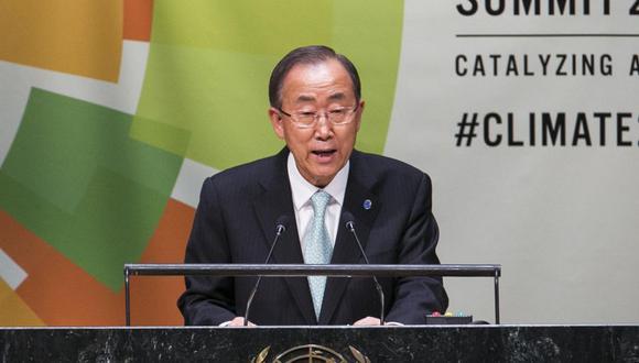 El ex secretario general de la ONU, Ban Ki-moon. (Foto: AFP)