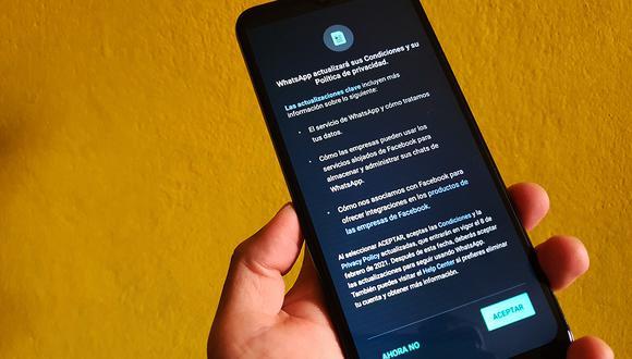 ¿Aceptaste las nuevas políticas de WhatsApp? Esto es lo que debes saber. (Foto: MAG)